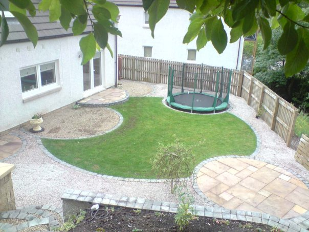 Garden After Redesign Including A Sunken Trampoline