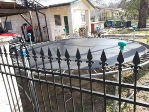 Site the trampoline away from dangerous objects