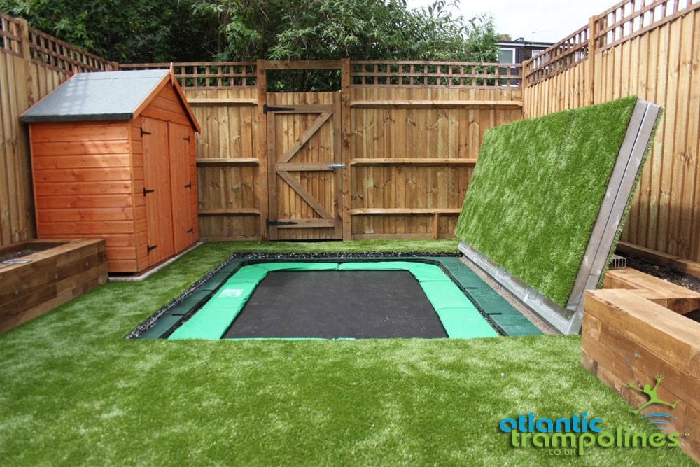 how to create an in ground trampoline
