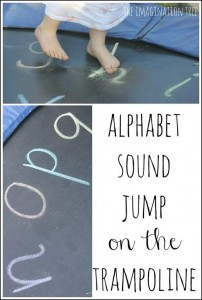 Use the trampoline to help young children learn the alphabet