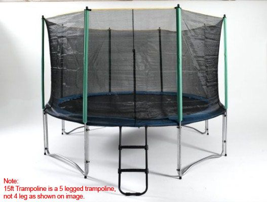 15ft trampoline with enclosure